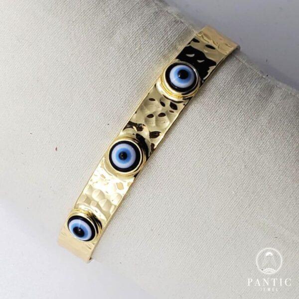 Bracelet Multi Evil Eye Gold Plated