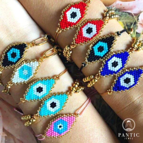 Bracelets Evil Eye Cord available in blue, turquoise, white and black
